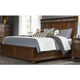 Coronado Tobacco Queen Panel Storage Bed