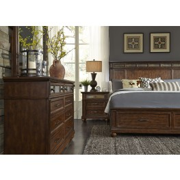 Coronado Tobacco Panel Storage Bedroom Set