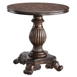 Round Pedestal Table Dark Reclaimed