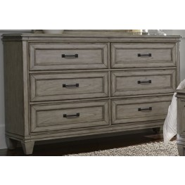 Grayton Grove Driftwood 6 Drawer Dresser