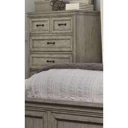 Grayton Grove Driftwood 5 Drawer Chest