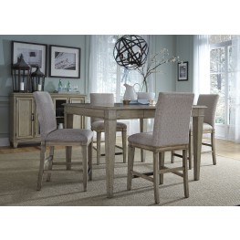 Grayton Grove Driftwood Extendable Counter Height Dining Room Set