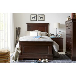 Teaberry Lane Midnight Cherry Youth Panel Bedroom Set