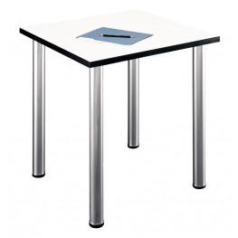 Aspen White Spectrum Square Table