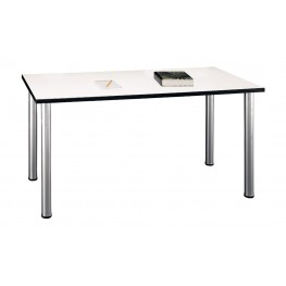 Aspen White Spectrum 57 Inch Large Rectangle Table