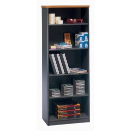 Series A Natural Cherry 26 Inch 5-Shelf Bookcase