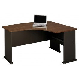 Series A Sienna Walnut 60 Inch RH L-Bow Desk