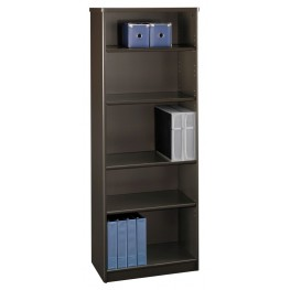 Series A Sienna Walnut 26 Inch 5-Shelf Bookcase