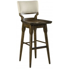 Santa Clara Burnished Walnut Barstool