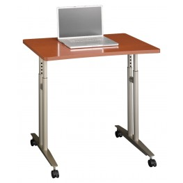 Series C Auburn Maple Adjustable Height Mobile Table