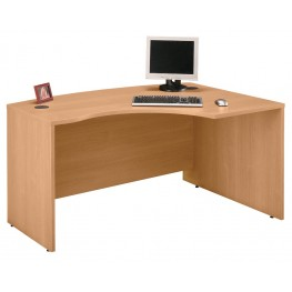 WC60322 Series C Light Oak 60 Inch LH L-Bow Desk Shell
