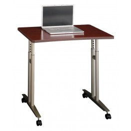 Series C Mahogany Adjustable Height Mobile Table