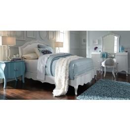Tiffany Pearlized White Upholstered Bedroom Set