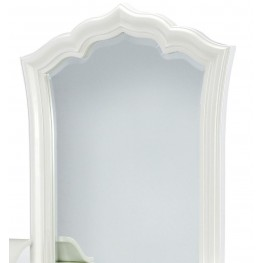 Tiffany Pearlized White Vanity Mirror