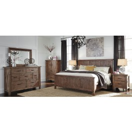 Tamilo Grayish Brown Panel Bedroom Set