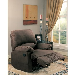 Casual Chocolate Microfiber Recliner - 600266