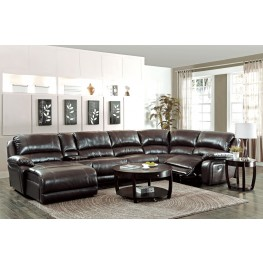 Mackenzie Brown 6Pc Reclining Sectional Set