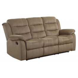 Rodman Tan Reclining Sofa