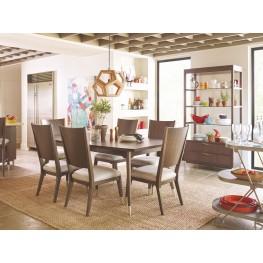Soho Ash Extendable Shaped Leg Dining Room Set