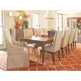 Soho Ash Extendable Rectangular Leg Dining Room Set