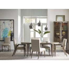 AD Modern Classics Dark Oak Espresso Stain Lloyd Extendable Oval Dining Room Set