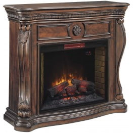 ClassicFlame Empire Cherry Lexington Wall Fireplace Mantel