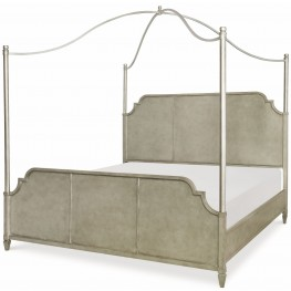 Upstate Conciare King Metal Canopy Bed