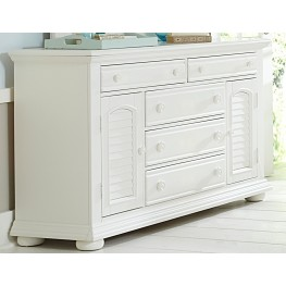 Summer House Oyster White 5 Drawer Dresser