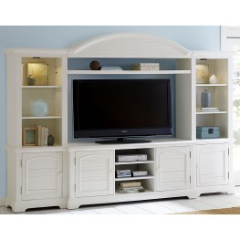 Summer House Oyster White Entertainment Wall Unit