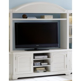 Summer House Oyster White Entertainment Center