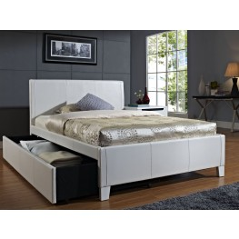 Fantasia White Full Upholstered Trundle Bed