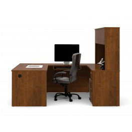 Embassy U-Shaped Tuscany Brown Workstation Kit