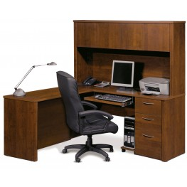 Embassy Tuscany & Brown L Shaped Workstation Kit