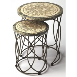 Kinich Fossil Stone Nesting Tables