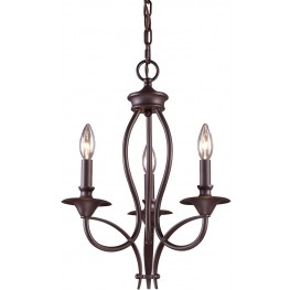 61031-3 Medford Oiled Bronze 3 Light Chandelier