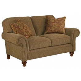 Larissa Cherry Stain Chenille Fabric Loveseat