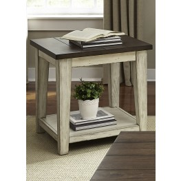 Saddlebrook Antique White End Table