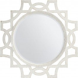 Juniper Dell 17th Century White Accent Mirror