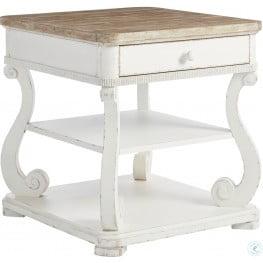 Juniper Dell 17th Century White End Table