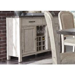 Willowrun Rustic White Sideboard