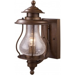 Wikshire Coffee Bronze 1 Light Outdoor Wall Mount