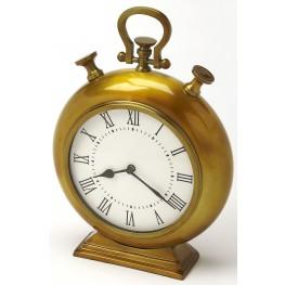 Kenilworth Antique Brass Finish Desk Clock