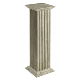 "Square 36"" White Fluted Pedestal"