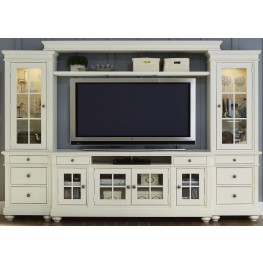 "Harbor View Linen Entertainment Wall Unit with 62"" TV Console"