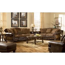 Fresco DuraBlend Antique Sofa & Chair Living Room Set