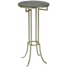 Lorain Antiqued Silver Martini Table