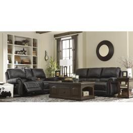 Milhaven Black Reclining Living Room Set