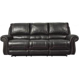 Milhaven Black Reclining Sofa