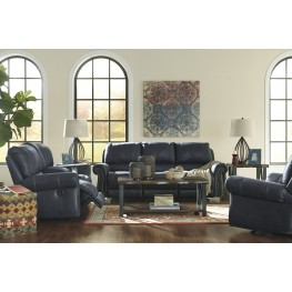 Milhaven Navy Reclining Living Room Set