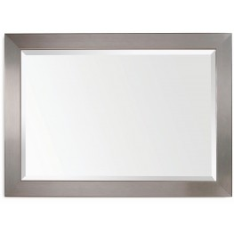 Stainless Brushed Chrome Wall Mirror